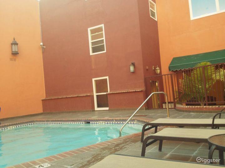 Outdoor Pool Area in LA Photo 2
