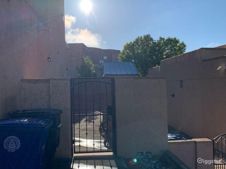 South gate to backyard
