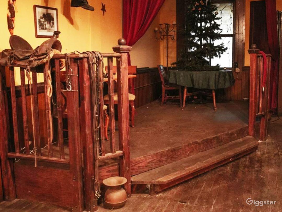 Original floor plan of saloon is still in saloon.