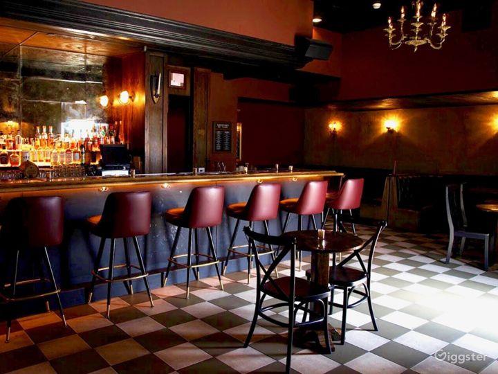 Culver City Barbershop/Bar speakeasy