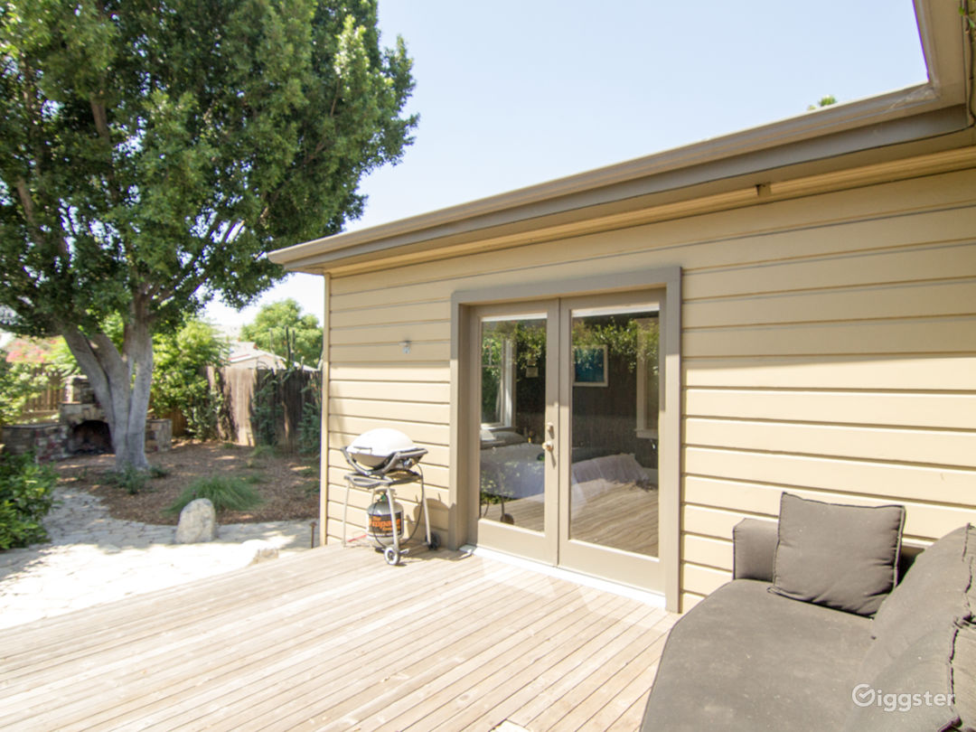 Back deck, accessed through master bedroom French doors and kitchen door.