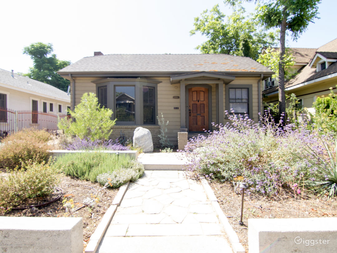 Front of house, view from curb.
