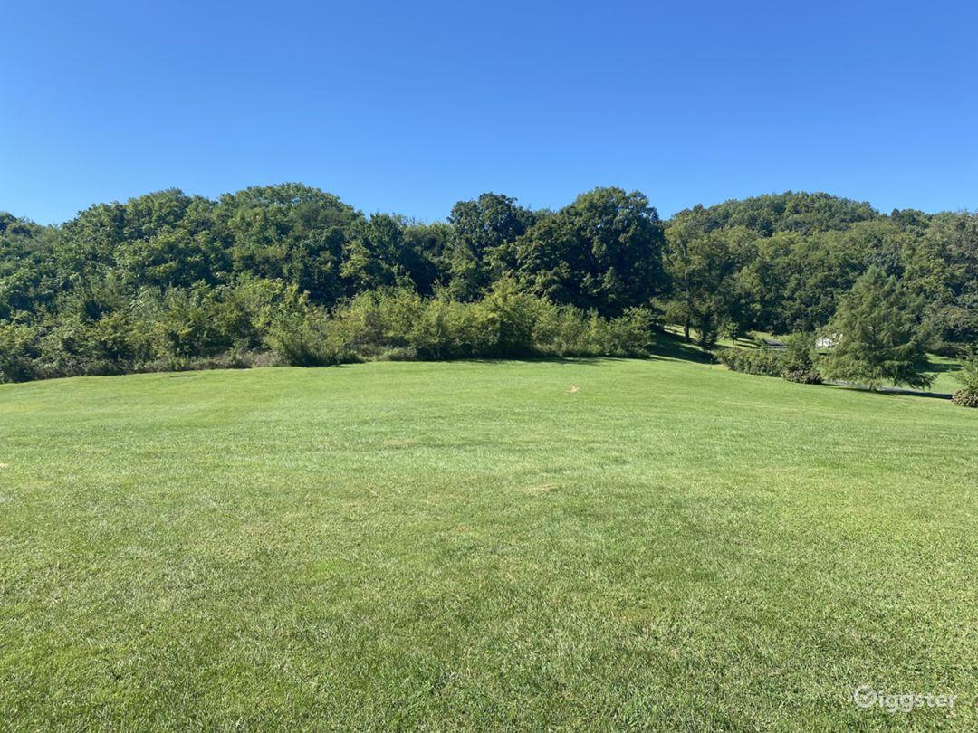 Open grass field