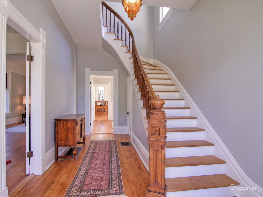 Front stair and hallway