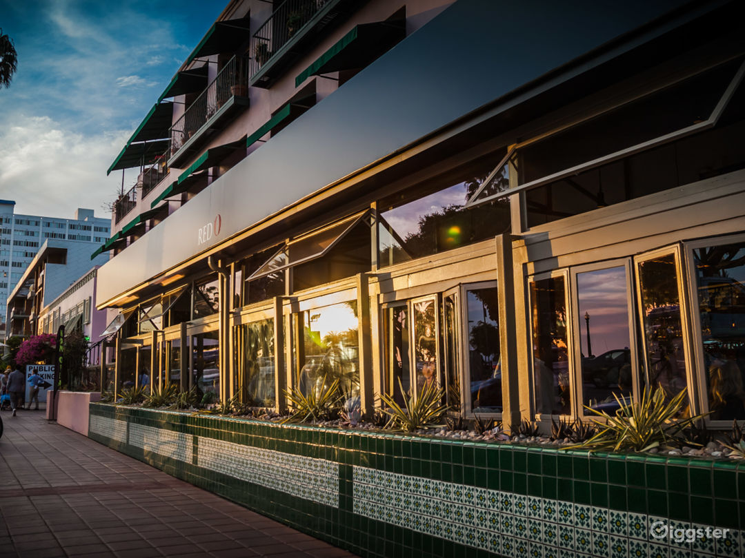 Front of the Restaurant Facing Ocean Ave Across from the Santa Monica Pier