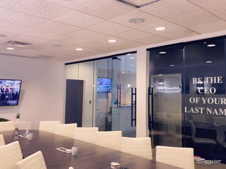 Modern Conference Room with Natural Light Photo 2