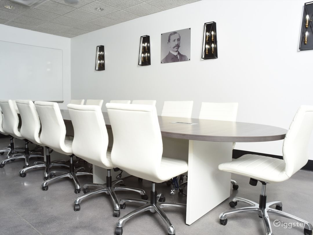 Modern Conference Room with Natural Light Photo 1