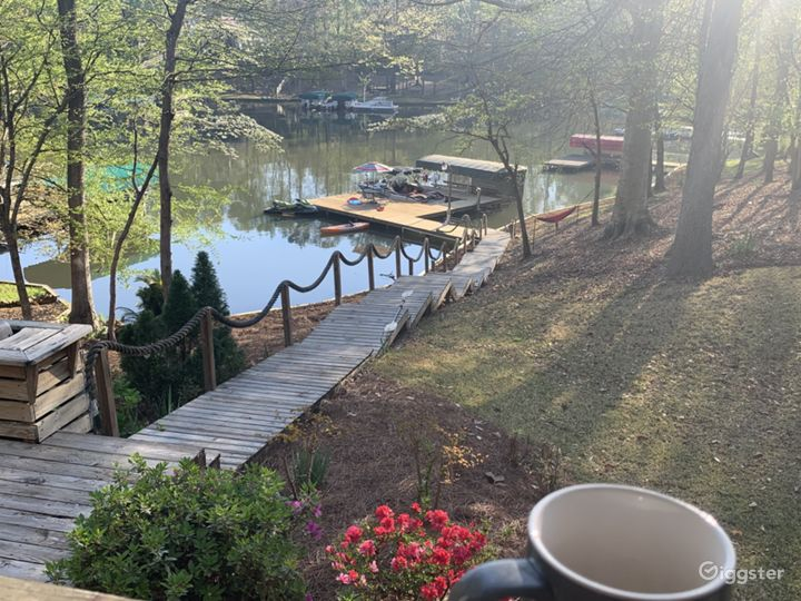 Back porch to docks