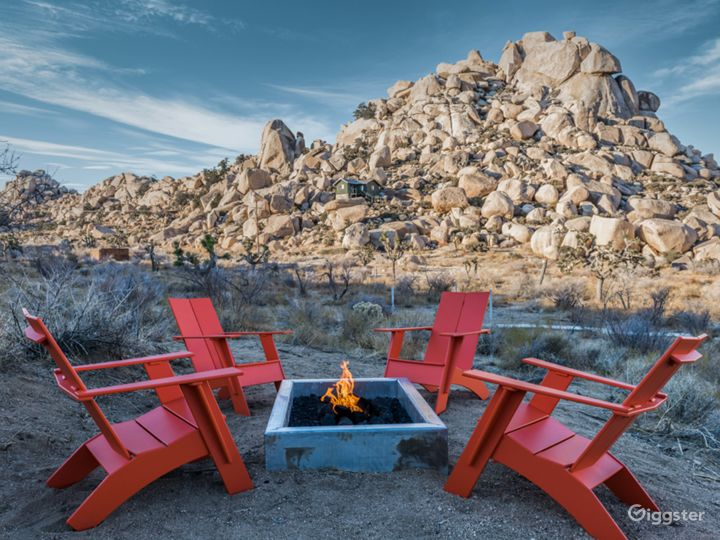 Enjoy the stars or make a fabulous camp scene with the fire pit area complete with Adirondack chairs.