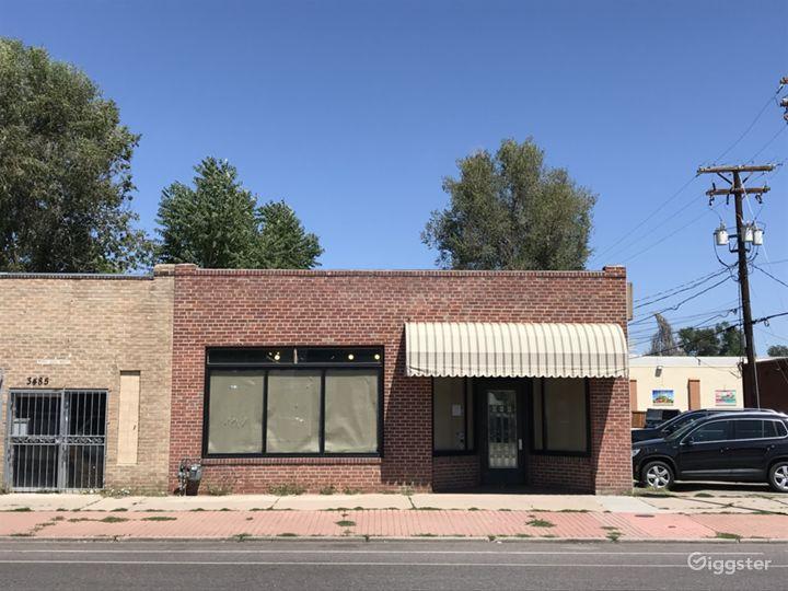 Abandoned Mainstreet 1940's Brick Facade Retail