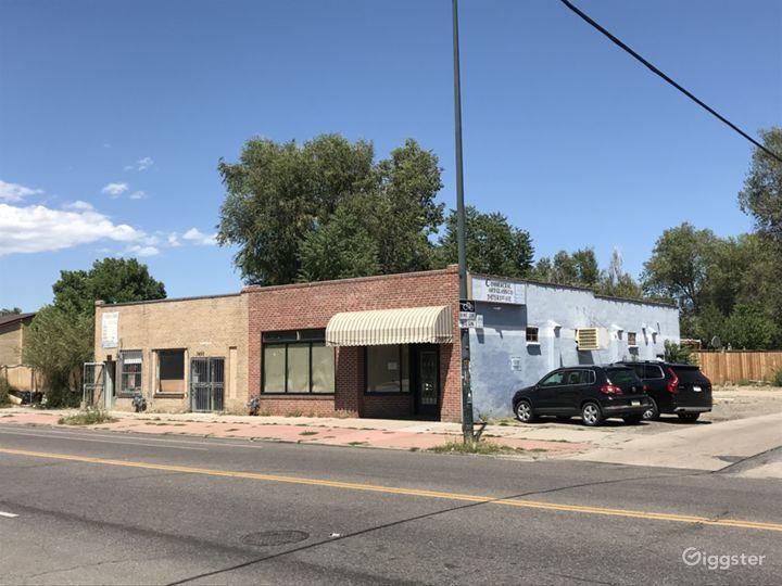 Abandoned Mainstreet 1940's Brick Facade Retail  Photo 2