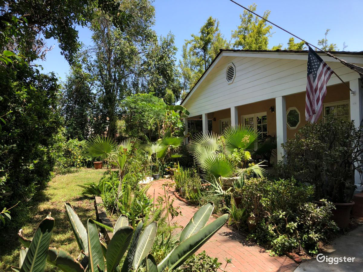 Ranch House with a Jungle Feel and an Empty Pool off Ventura Freeway Los Angeles Rental