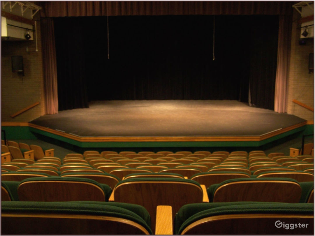40'X40' Modified Thrust Stage as seen from back row of audience