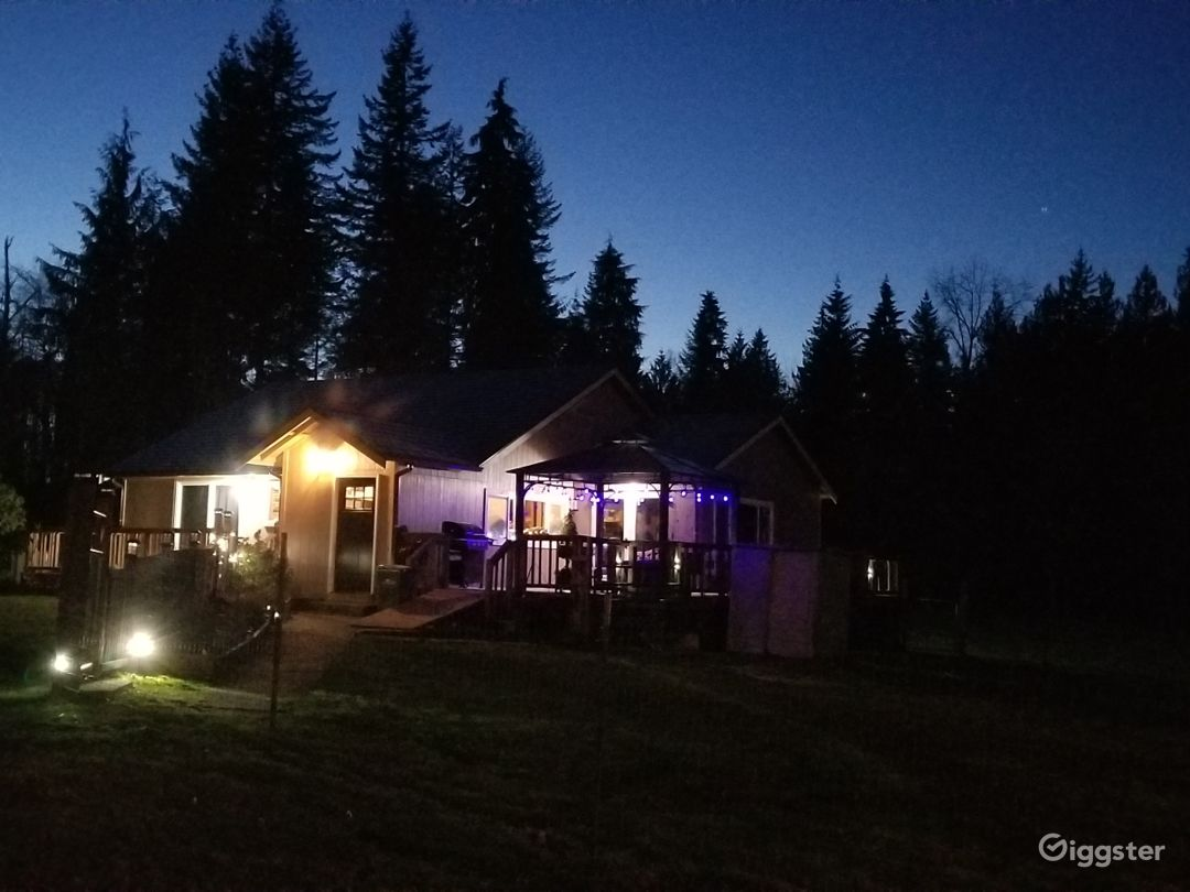 Night Lit House