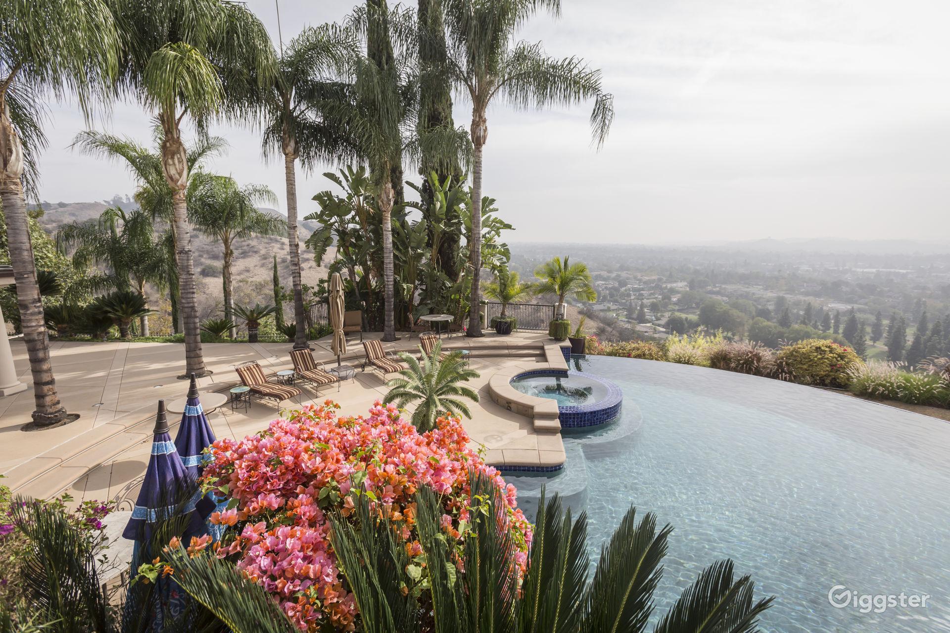 Stunning Resort-Like Mansion Overlooking Glendora Valley in Glendora
