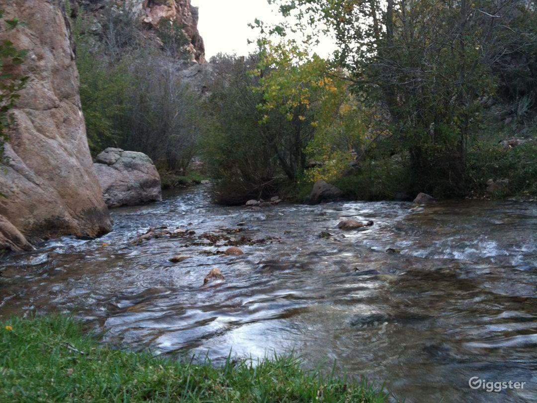Cundiyo, New Mexico streamside farm with cabin Photo 2