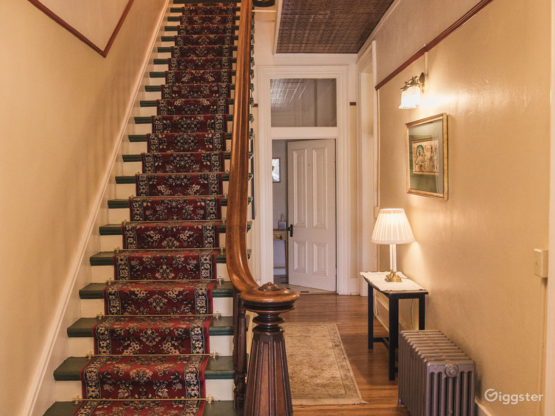 Grand Staircase with copper ceiling detail