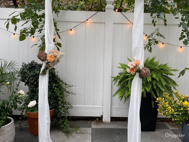 Floral arch for marriage ceremony (available with rental)