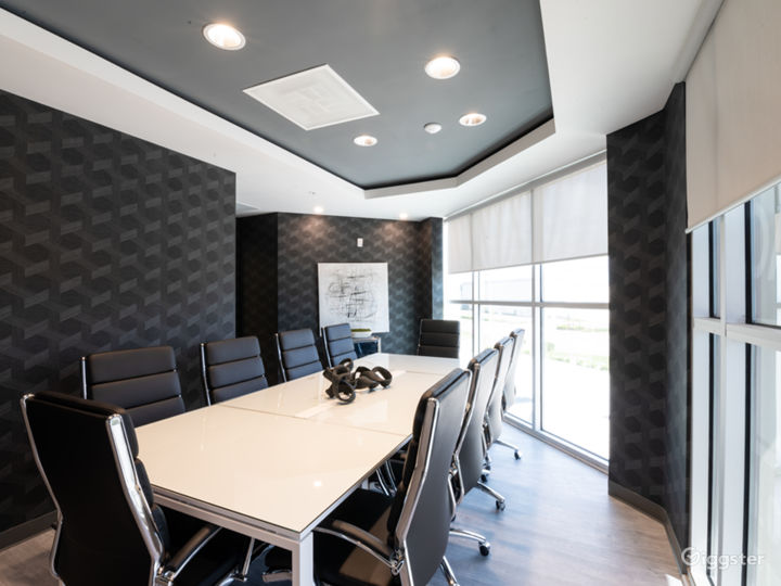 Comfortable, Sophisticated, and Modern 10 SEAT BLACK Conference Room Photo 5