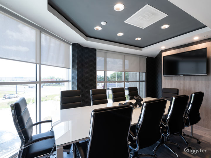 Comfortable, Sophisticated, and Modern 10 SEAT BLACK Conference Room Photo 3