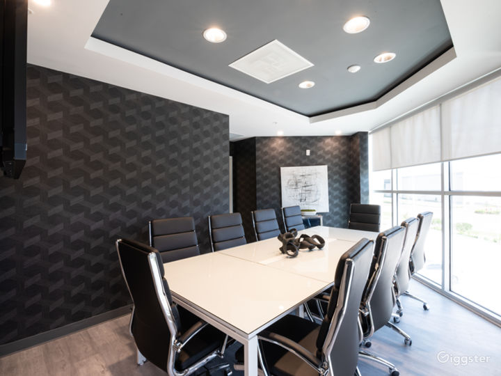 Comfortable, Sophisticated, and Modern 10 SEAT BLACK Conference Room Photo 4