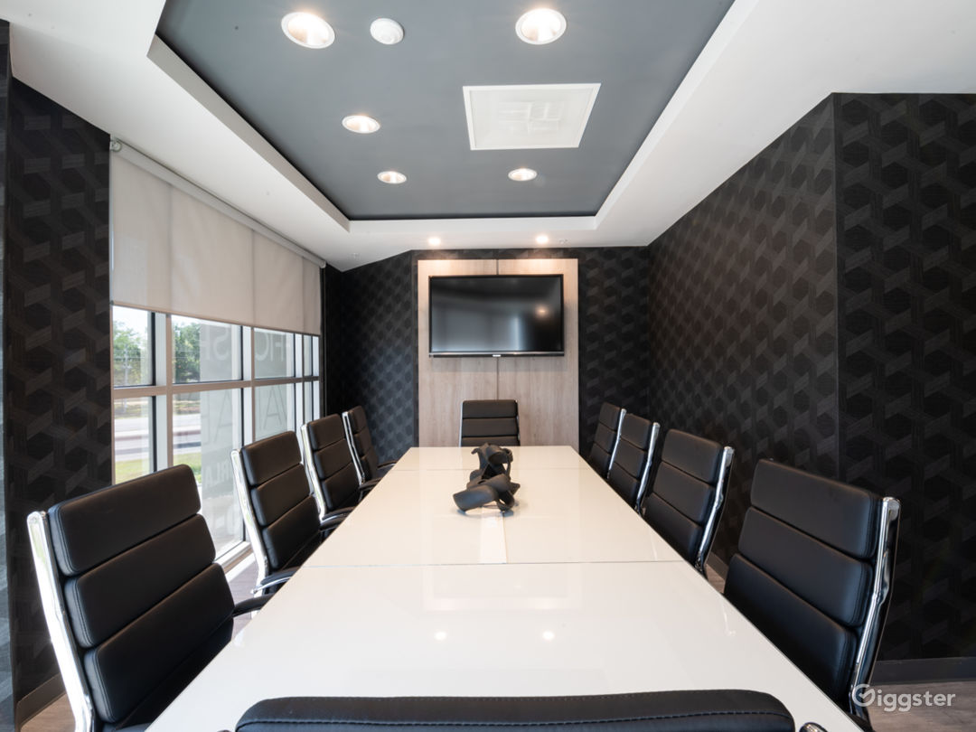 Comfortable, Sophisticated, and Modern 10 SEAT BLACK Conference Room Photo 1