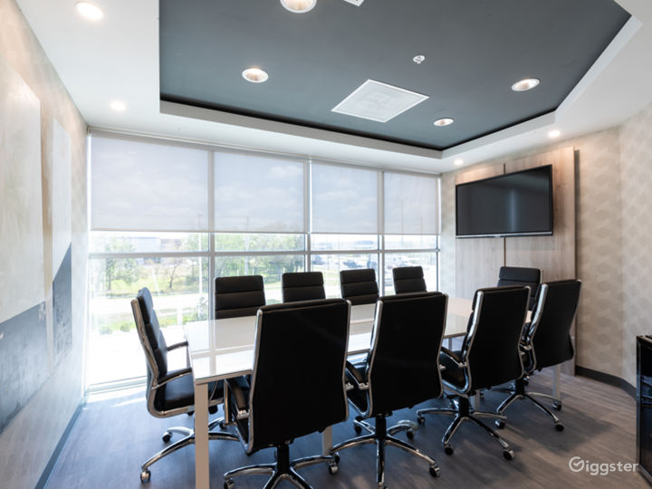 Comfortable, Sophisticated, and Modern 10 SEAT BLACK Conference Room Photo 2