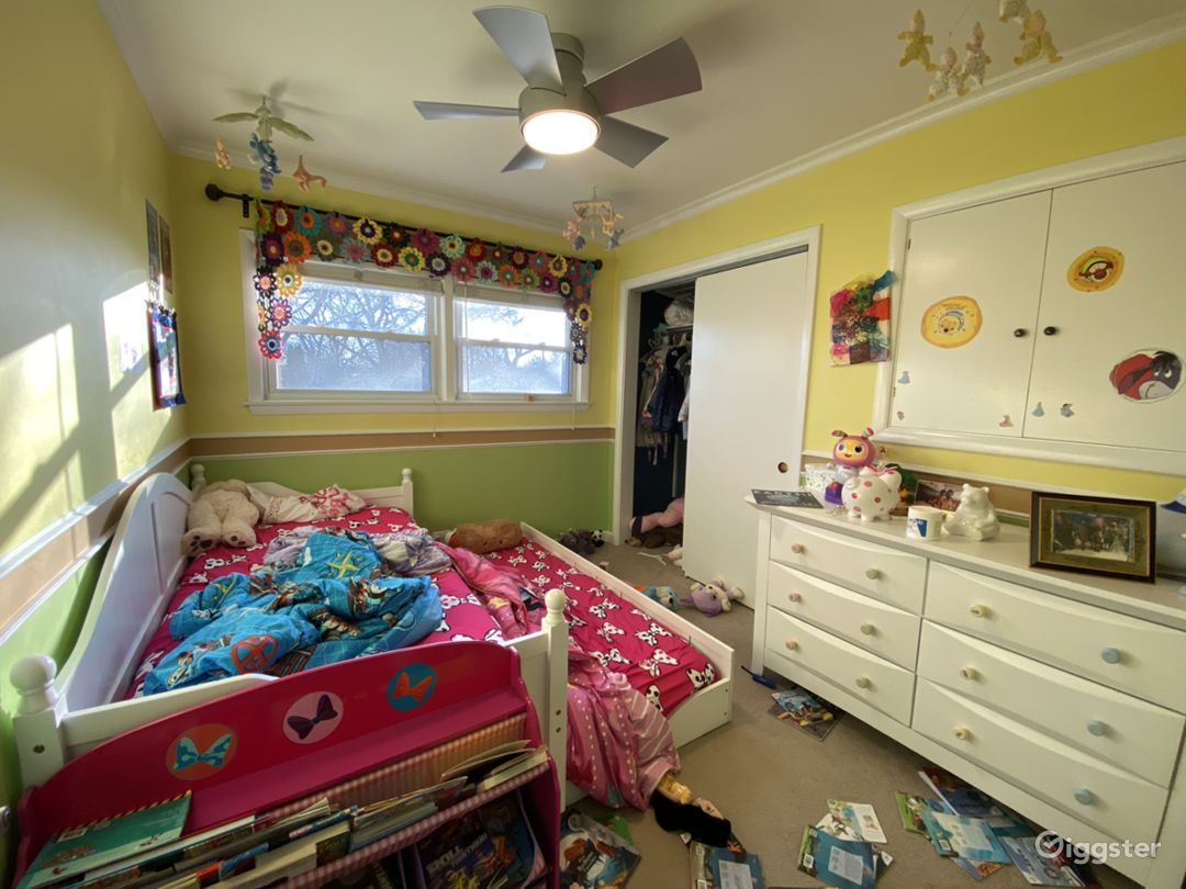Kids bedroom- this will be updated next month and have pink and purple walls and a Disney Princess theme