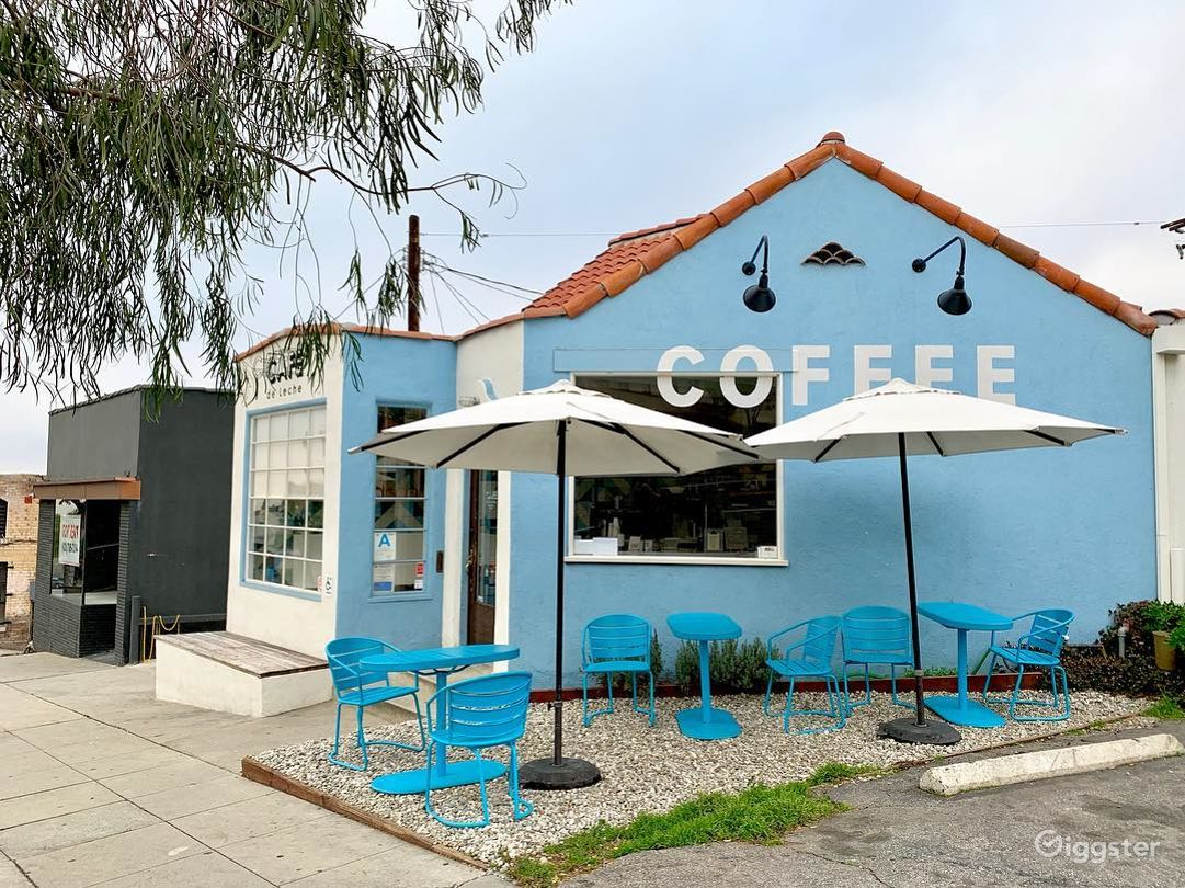 Front of cafe