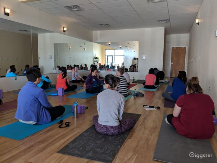 Serene, Bright, and Open, Flooded with Natural Sunlight Yoga Studio in WestSide Albuquerque Photo 2