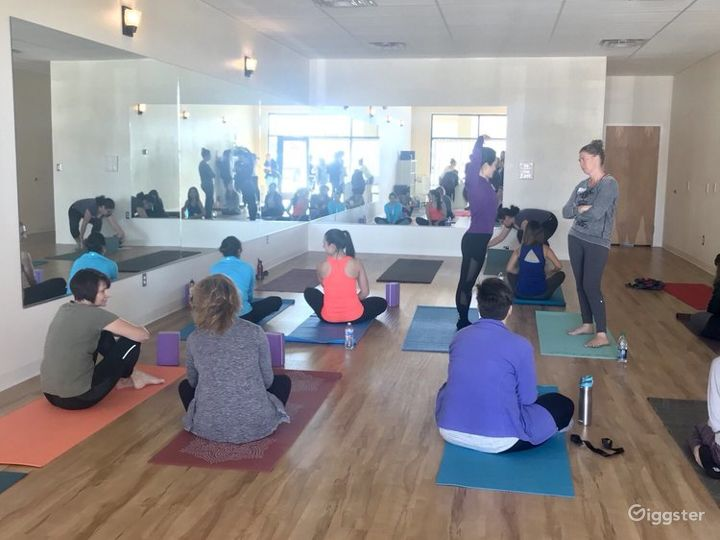 Serene, Bright, and Open, Flooded with Natural Sunlight Yoga Studio in WestSide Albuquerque Photo 4