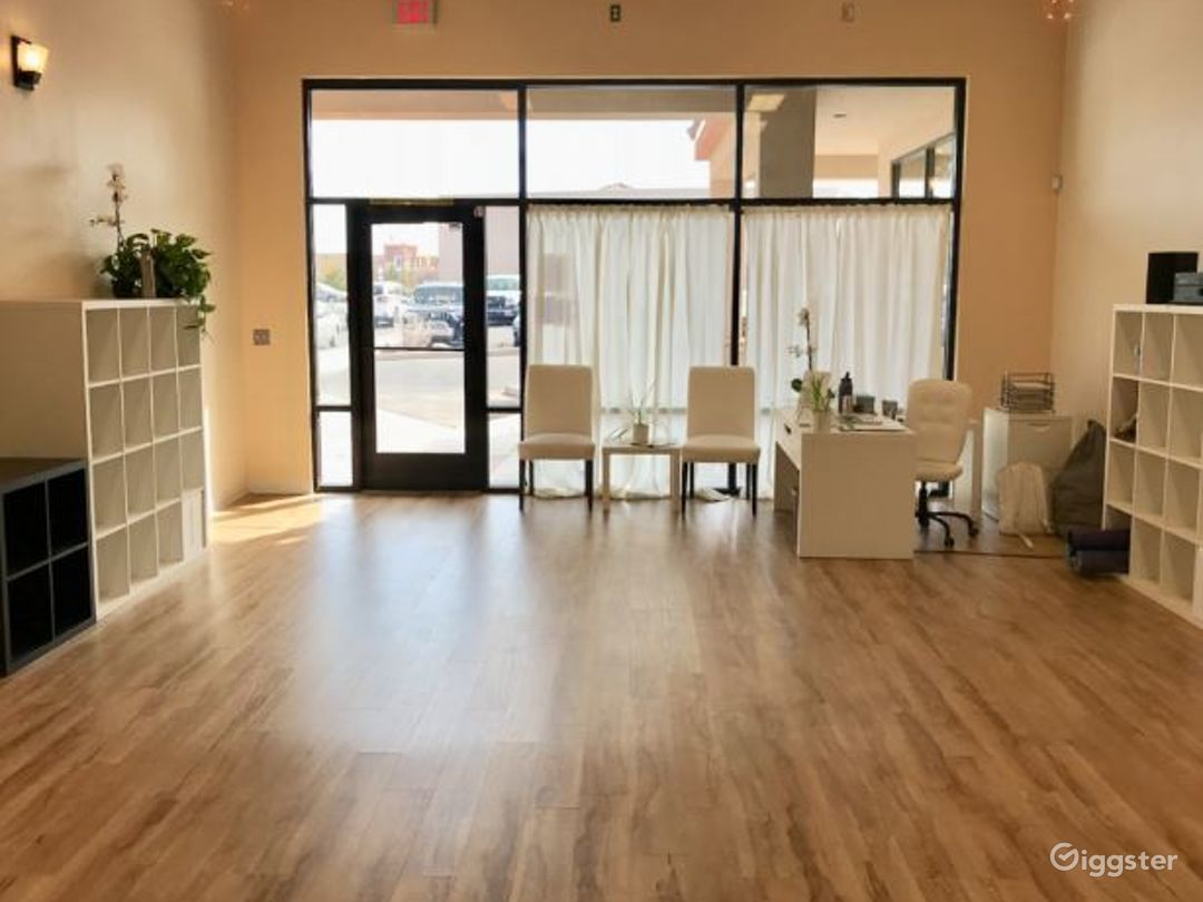 Serene, Bright, and Open, Flooded with Natural Sunlight Yoga Studio in WestSide Albuquerque Photo 1