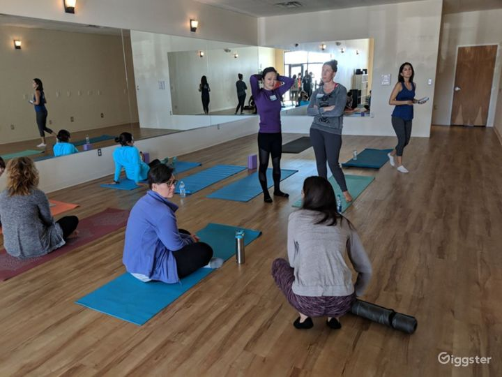 Serene, Bright, and Open, Flooded with Natural Sunlight Yoga Studio in WestSide Albuquerque Photo 5