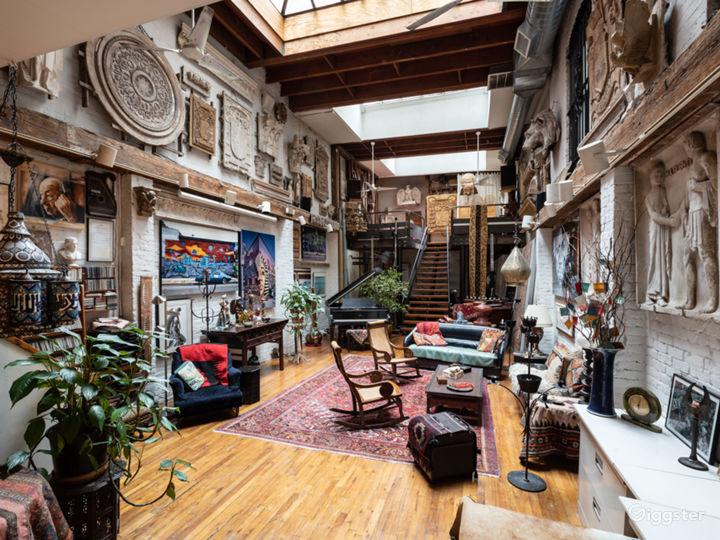 Exotic bohemian haven loft in Gramercy