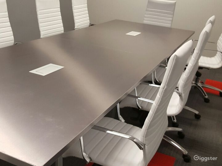 Gray Top with White Chairs - AV-Ready for Presentations