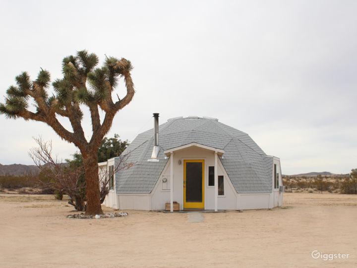 Geodesic Dome in the Desert in Joshua Tree