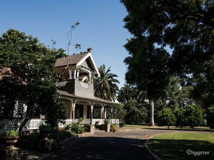 The Queen Anne Homestead and Botanical Gardens designed 1870.