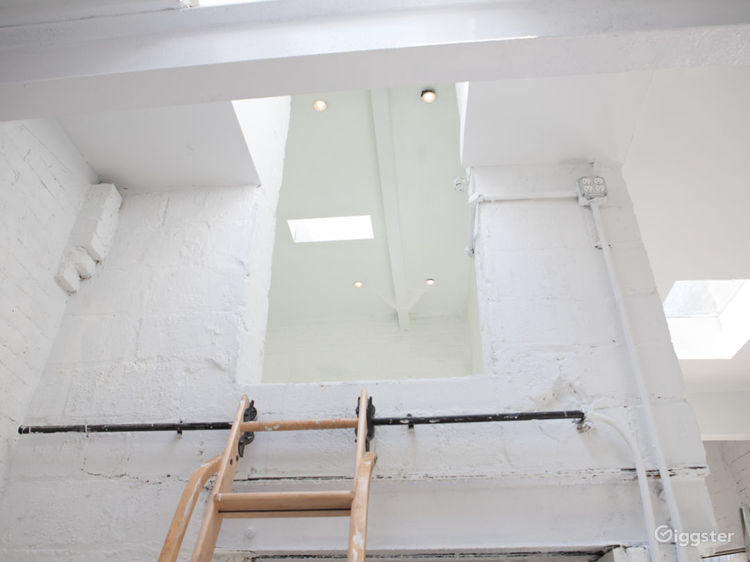 GHOST WHITE GALLERY SPACE WITH SKYLIGHTS Photo 4