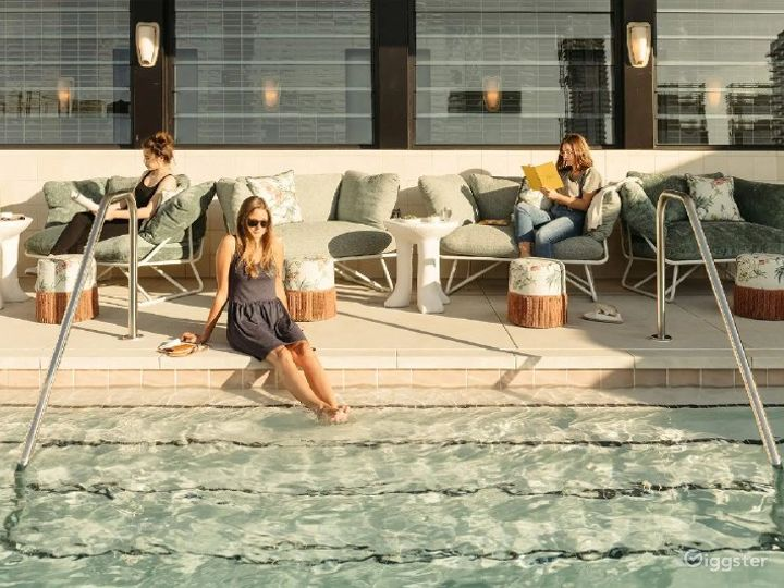 Mediterranean Pool and Rooftop Bar in LA Photo 2