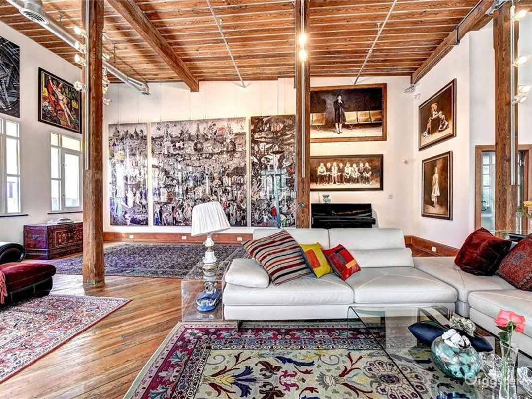 Bohemian Modern Loft Style Home with Art for Rent Photo 1