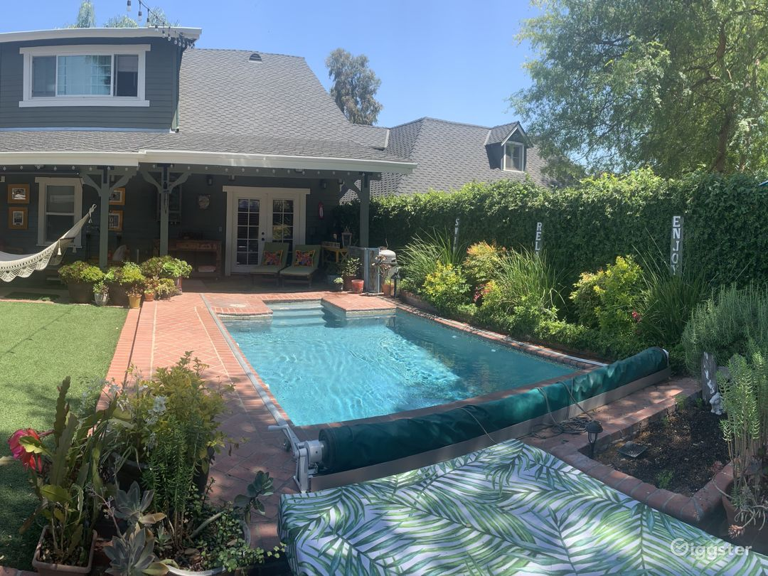 1909 Charming Craftsman with Magical Pool Setting Photo 1