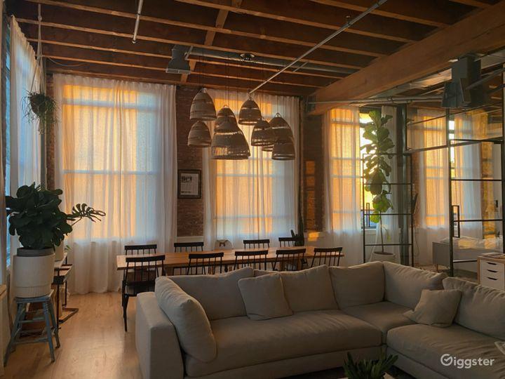 Corner unit Soho-Style loft in Jersey City