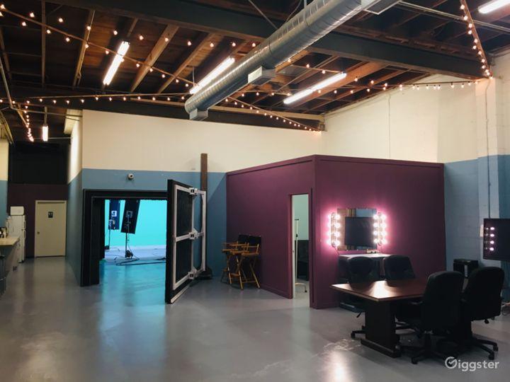 Open area outside studio