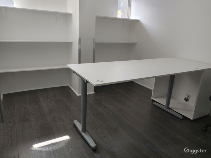 Another Private Office Space with Glass door, Table, Chair and Storage Area with WIFI!