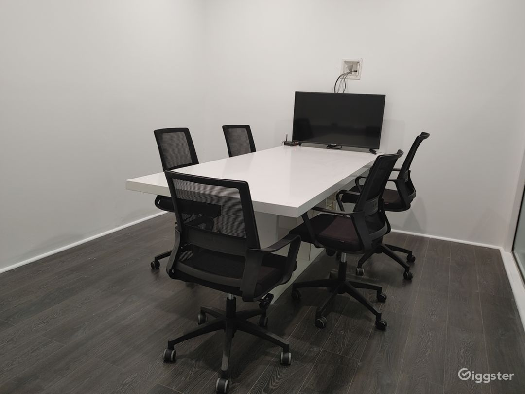 """7 Person Conference Room with 40"""" Color Monitor, White Board and Color Printer with WIFI!"""