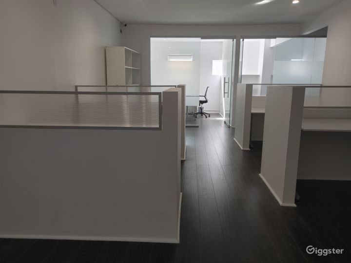 4 Person Open Cubicles Office Space with tables and chairs with WIFI!