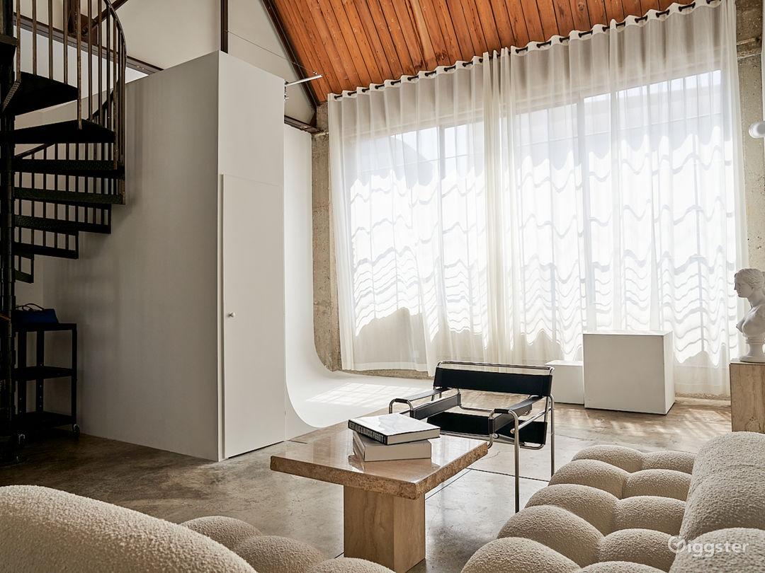 Natural Light Studio Loft with Cyc Wall Photo 1