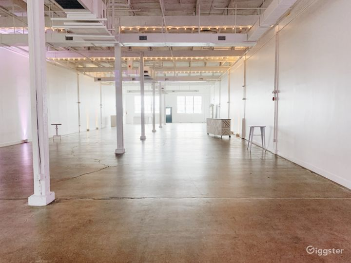 All White Airy Warehouse