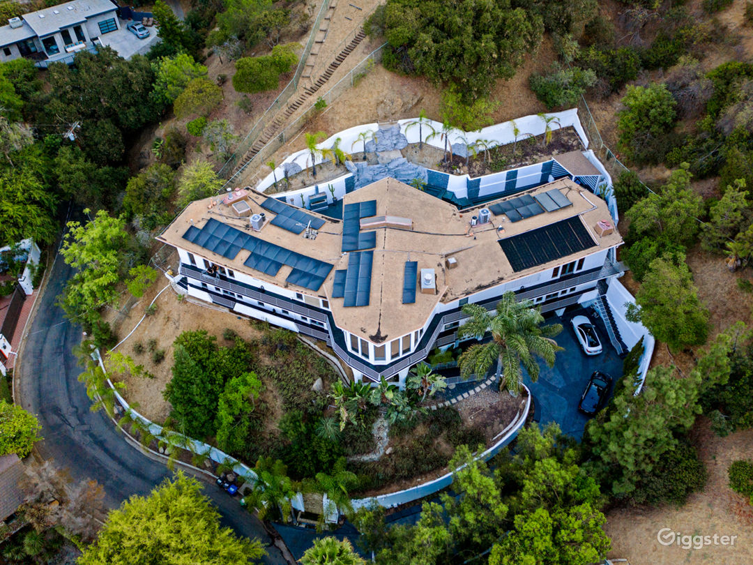 Spectacular Modern Wings Mansion Celebrity Estate Photo 5