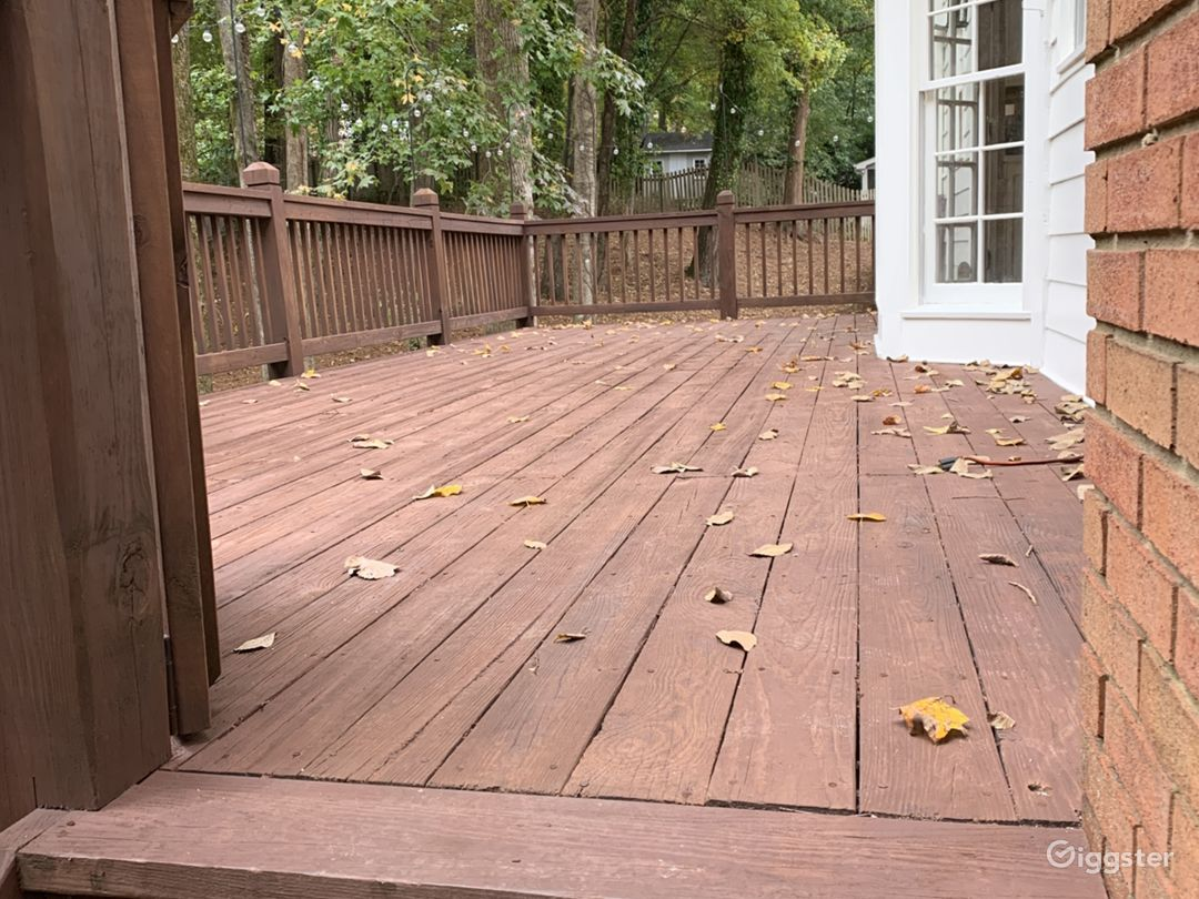 Back deck, newly stained